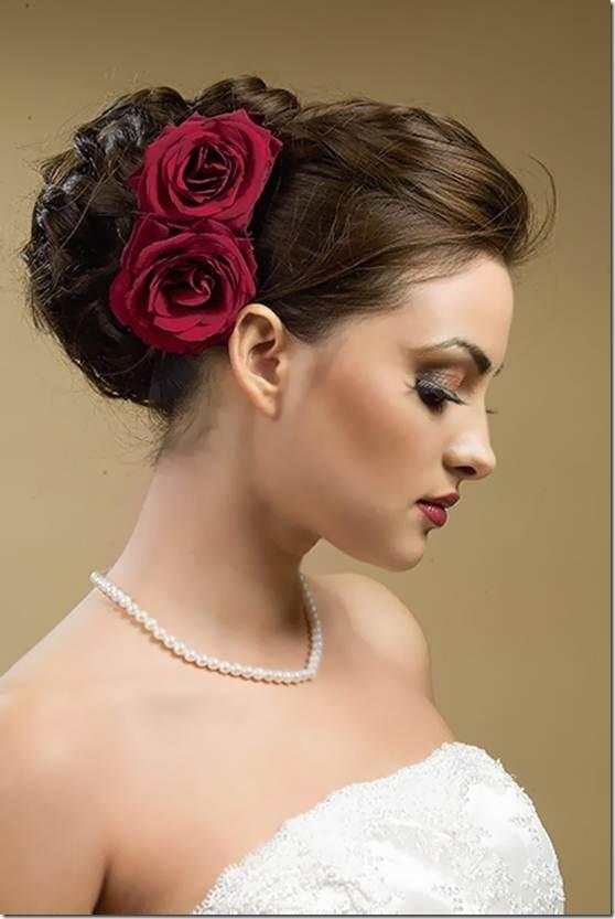 Wedding Hair Roses The Gilded Pear